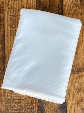 Ivory RIB 5*2 VISCOSE Spandex(LAST YARDS- NOT CONTINUOUS)