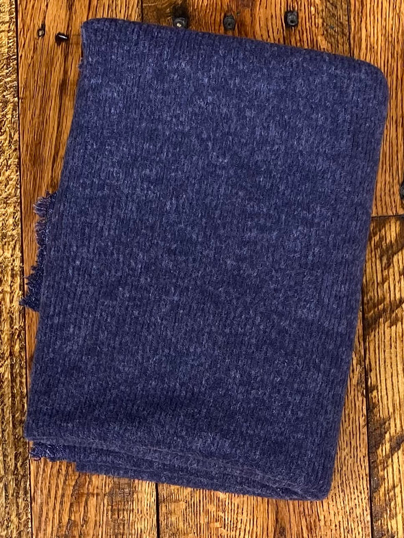 Navy Two Tone 2*1 Rib  Brushed Hacci Sweater Knit