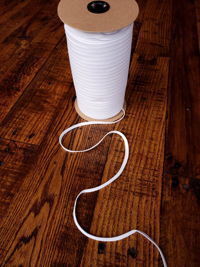 "1/4"" White Elastic 10 yards"
