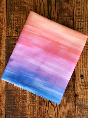 WOVEN Sunset Rainbow 100% COTTON(LAST YARDS- NOT CONTINUOUS)