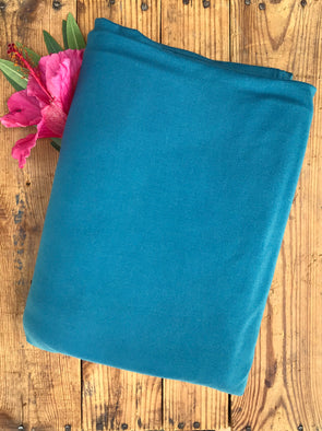 Teal Double Brushed Poly Spandex( New Dye lot 5/2/19 )