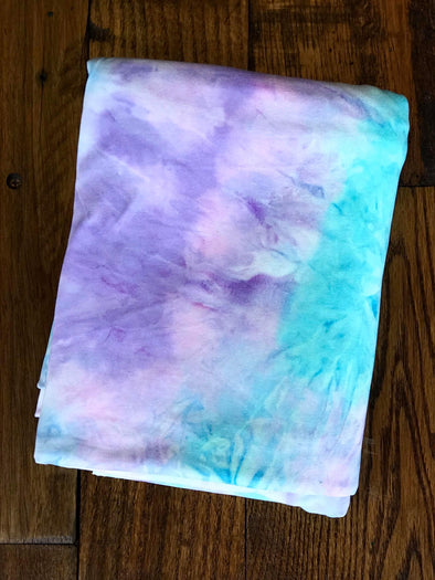 Pink, Mint, & Lilac Tie Dye Double Brushed Poly Spandex