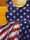 Knitpop Custom Vintage Distressed LIGHT Indigo Stars & Stripes Split Print