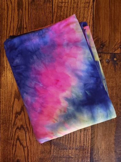 Aurora Tie Dye Double Brushed Poly Spandex