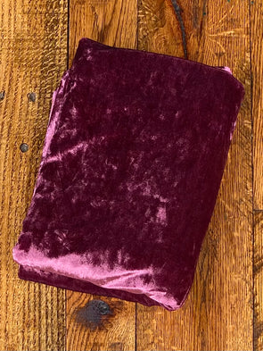 Berry  Crushed Stretch Velvet(LAST YARDS- NOT CONTINUOUS)
