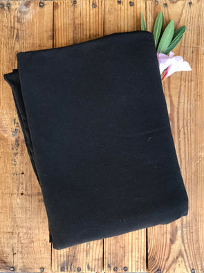Black Cotton Spandex 10oz