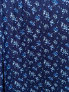 Ditsy Floral on Navy Double Brushed Poly Spandex(LAST YARDS- NOT CONTINUOUS)