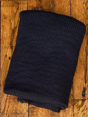Black Sweater Knit Poly Rayon Nylon(LAST YARDS- NOT CONTINUOUS)