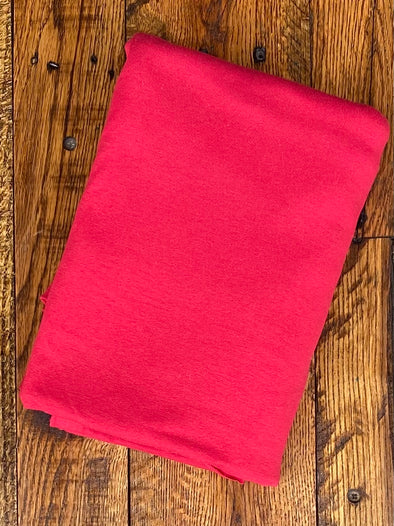 Red Cotton Spandex 10oz (LAST YARDS - MAY NOT BE CONTINUOUS)