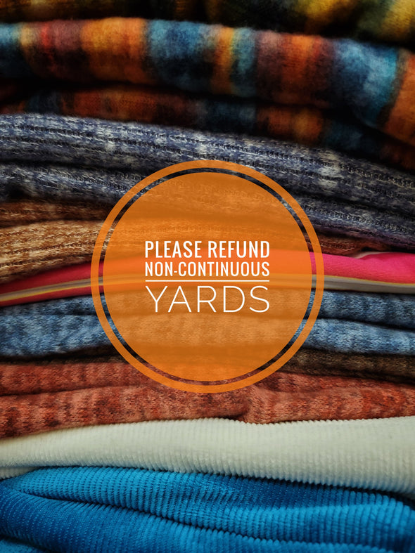 REFUND IF YARDS NON-CONTINUOUS