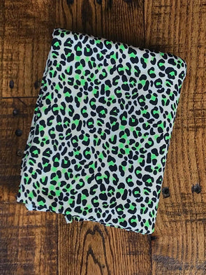 Neon Lime & Taupe Cheetah Animal Print