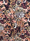 Multicolor Taupe Leopard Print Double Brushed Poly Spandex