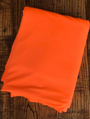 Matte Neon Orange Lightweight Athletic Knit 245GSM