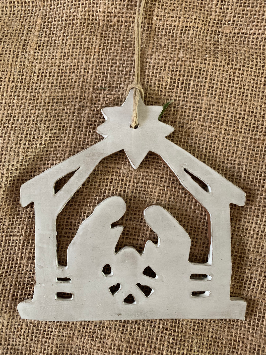 Nativity Ornament, Simple White