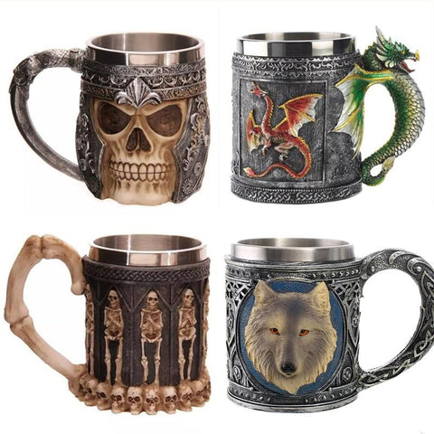3D Skull Mugs and Coffee Cup - Milestonebuy