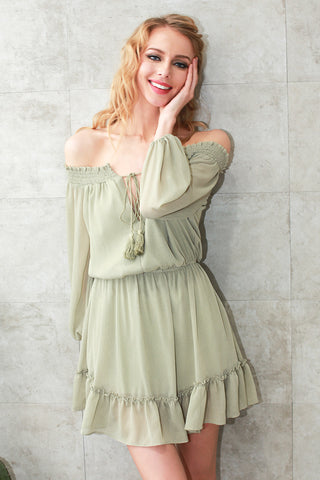 Chiffon Vintage Short Dress - Milestonebuy