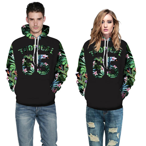 Green Leaves Hoodies - Milestonebuy