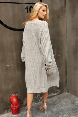 Long Knitted Cardigan - Milestonebuy