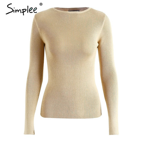 Image of Knitted O-Neck Pullover - Milestonebuy