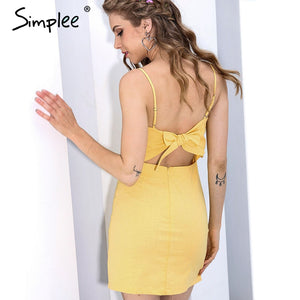 Lace Up Backless Mesh Dress - Milestonebuy