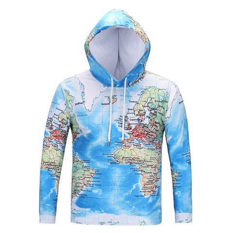 Unisex World Map Sweatshirt - Milestonebuy