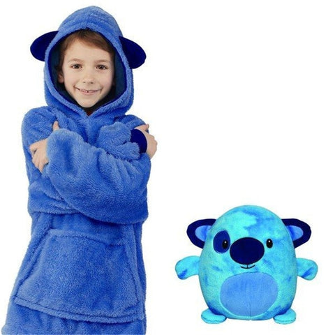 Pelchi™: La Couverture-sweat peluche