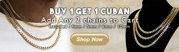 Buy 1 Get 1 Chains from Bling Label