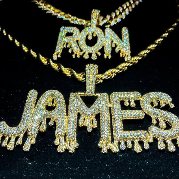 Drip Custom Letter Rapper Chain
