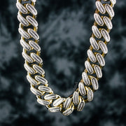 18mm Diamond Iced Cuban Link Chain in Gold