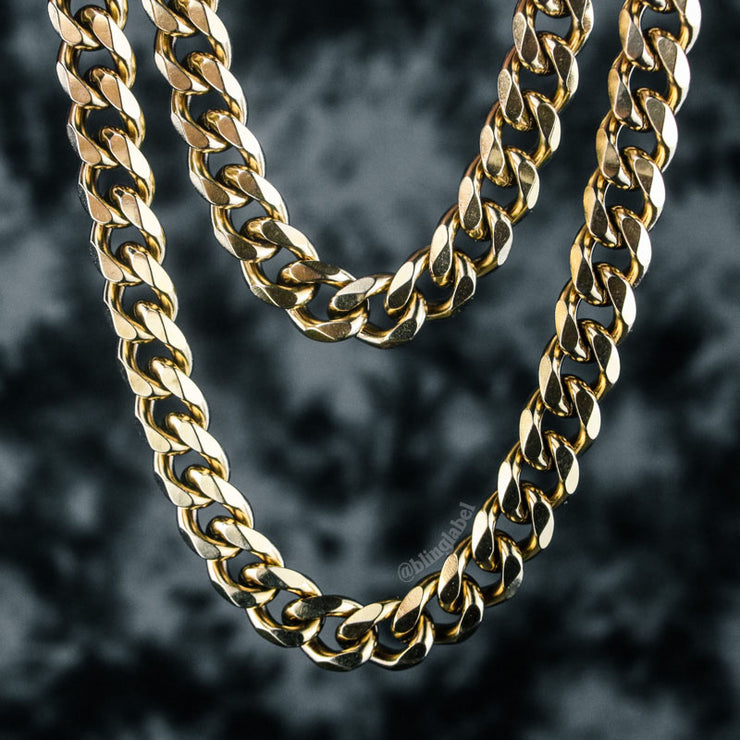 Miami Cuban Link Choker Chain in Gold