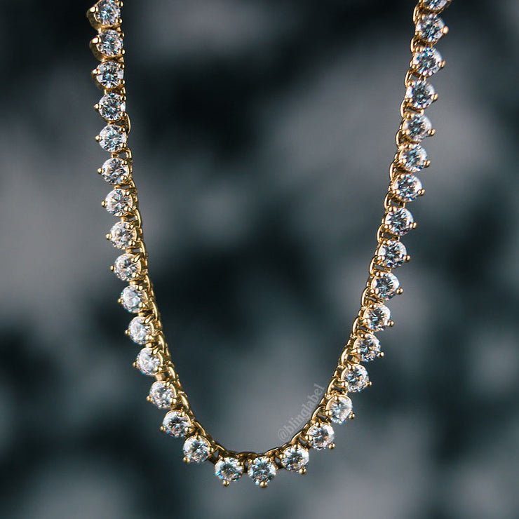 4mm Diamond Buttercup Tennis Chain in Gold