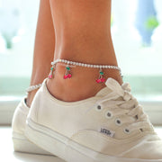cute ankle bracelet cherry anklet