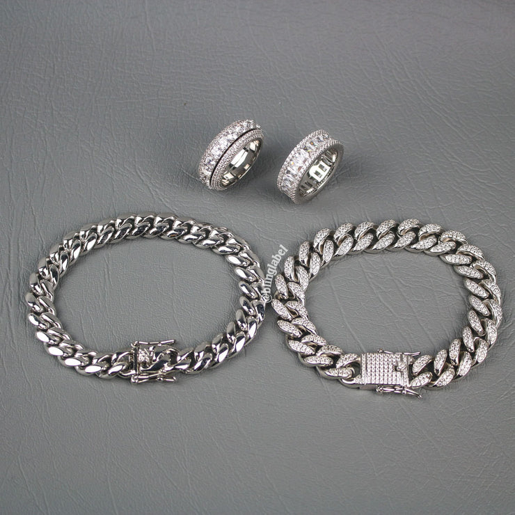 HUSTLER Bundle Set in White Gold