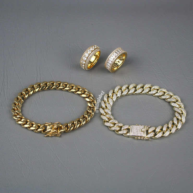 HUSTLER Bundle Set in Gold