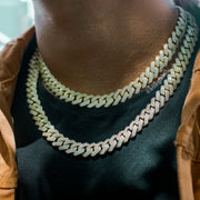 gold diamond cuban link chain