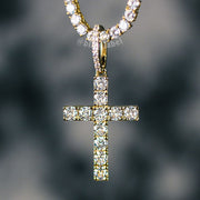 18K Gold Premium Cross Pendant Necklace