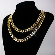 18K gold miami cuban link chain