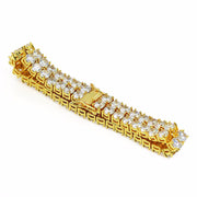Gold 2 Rows Tennis Bracelet