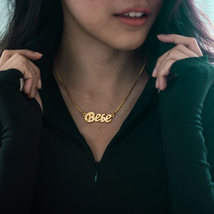 Womens' Custom Name Letter Babe Necklace