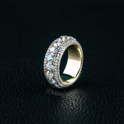 5 Rows Brilliant Cut Exquisite Ring in Gold (Spinnable)