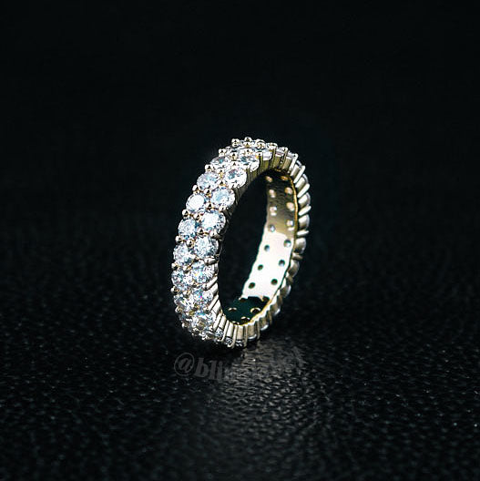 2 Row Tennis Ring in Gold (6mm)