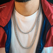 6mm Franco Box Chain in White Gold