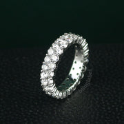 2 Row Tennis Ring in White Gold (6mm)