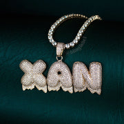 Custom Drip Bubble Letter Necklace