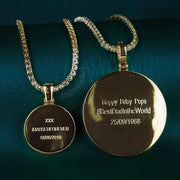 14k gold pendant photo engraved