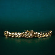 10mm Cuban Link Bracelet in Gold