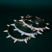 14K Iced Out Spike Bracelet in Gold