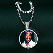 Iced Out Custom Photo Pendant Necklace