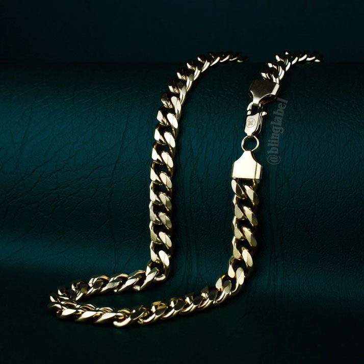 18K cuban link chain