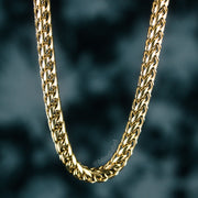 6mm Franco Box Chain in Gold